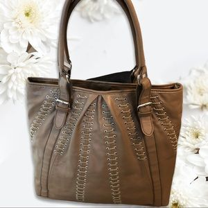 Taupe Barney's New York Tote